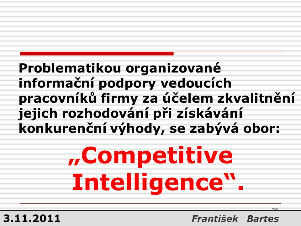 """Competitive Intelligence ."
