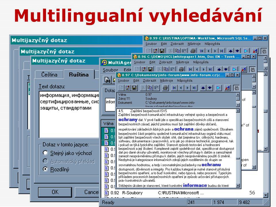 Multilingualní vyhledávání
