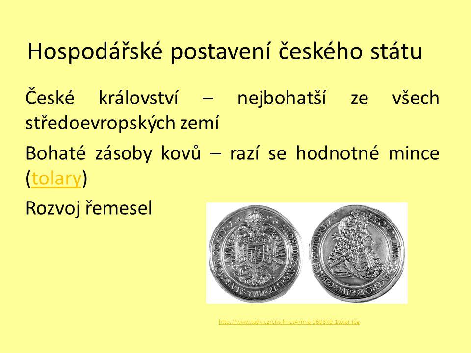 Hospodářské postavení českého státu
