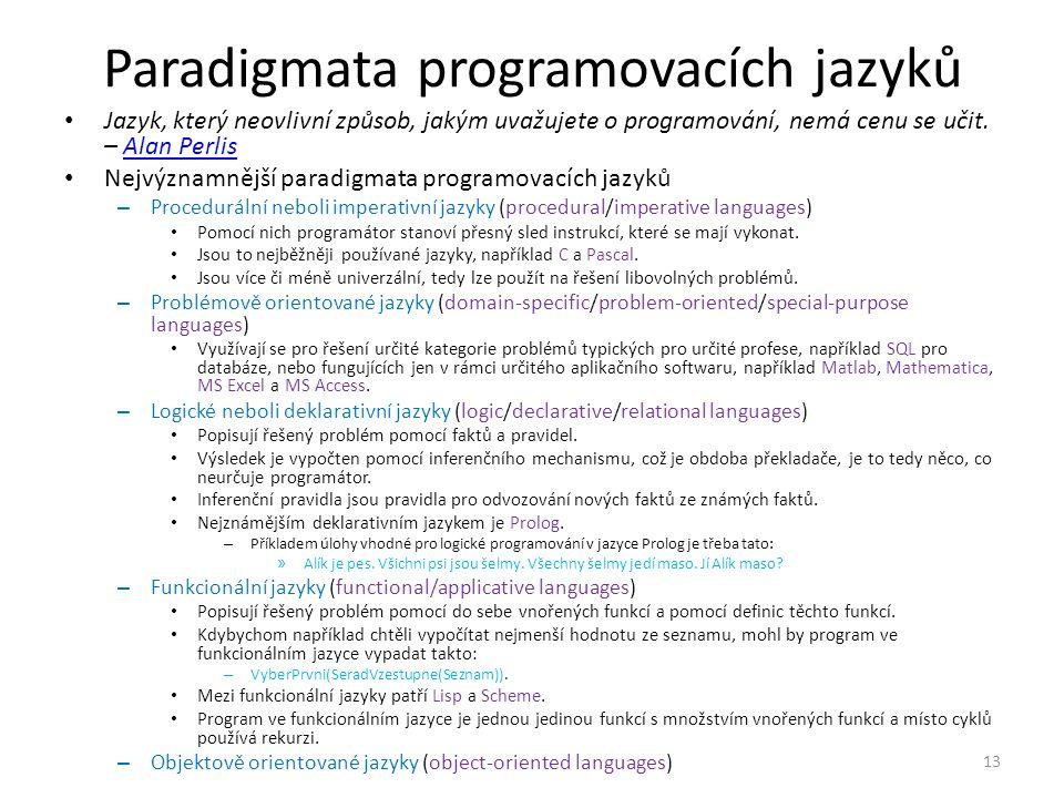 Paradigmata programovacích jazyků