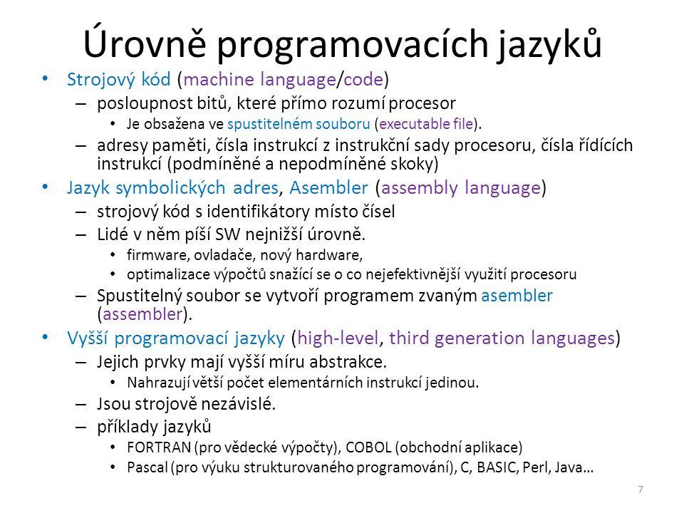 Úrovně programovacích jazyků