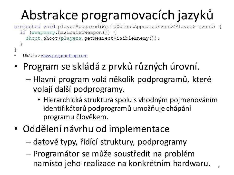 Abstrakce programovacích jazyků