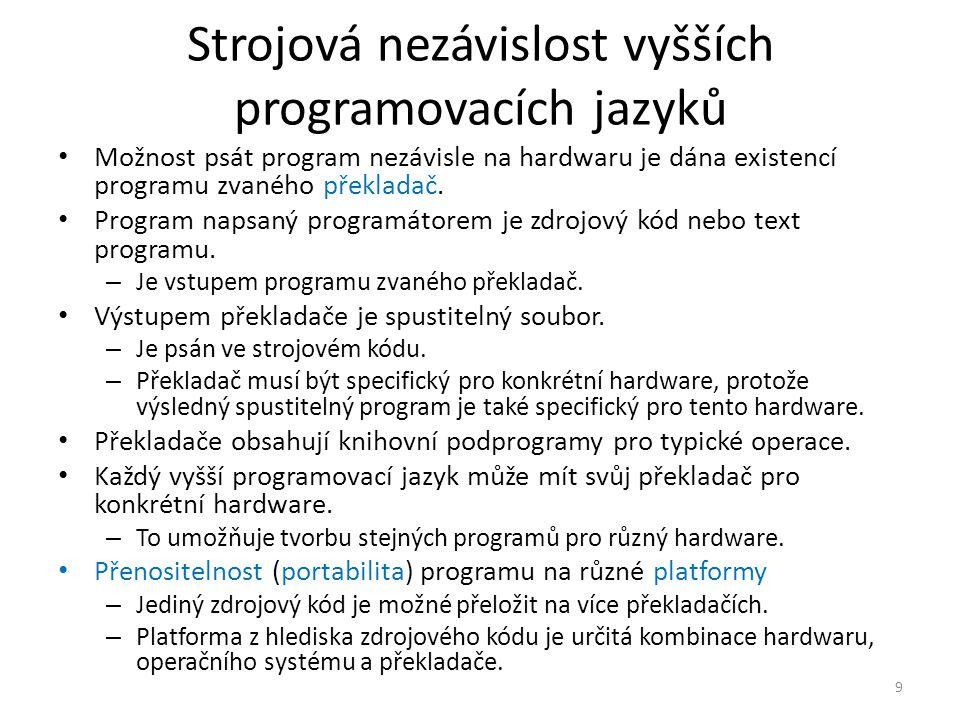 Strojová nezávislost vyšších programovacích jazyků