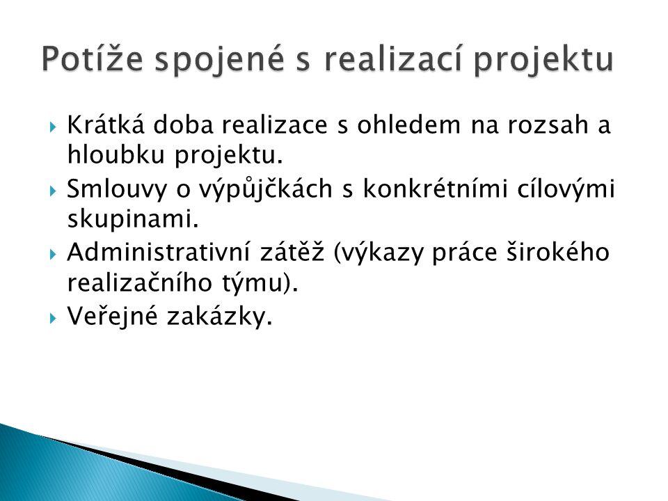 Potíže spojené s realizací projektu