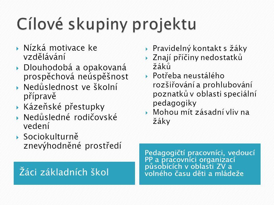 Cílové skupiny projektu