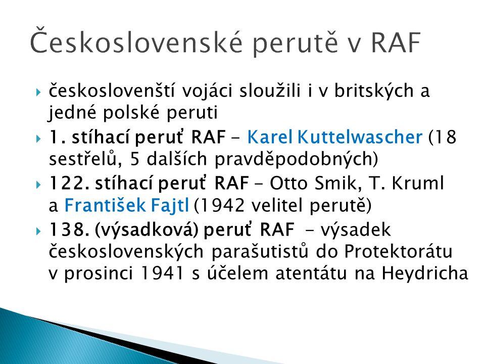 Československé perutě v RAF