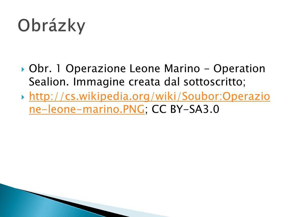 Obrázky Obr. 1 Operazione Leone Marino - Operation Sealion. Immagine creata dal sottoscritto;