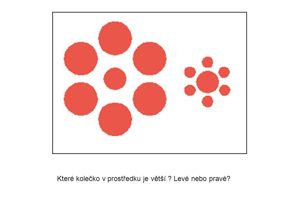 Které kolečko v prostředku je větší Levé nebo pravé