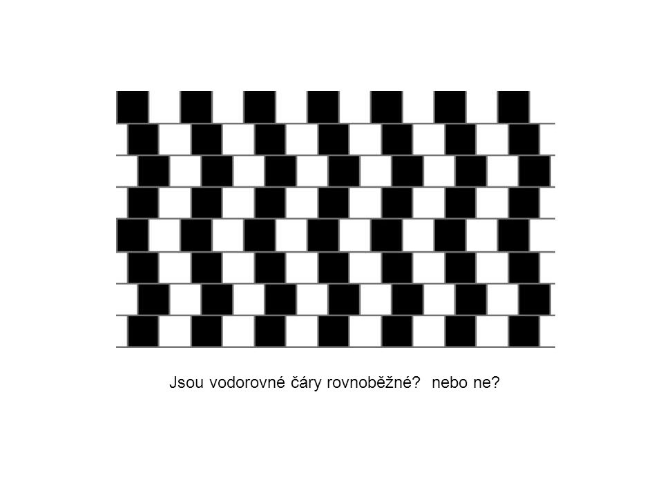 Jsou vodorovné čáry rovnoběžné nebo ne