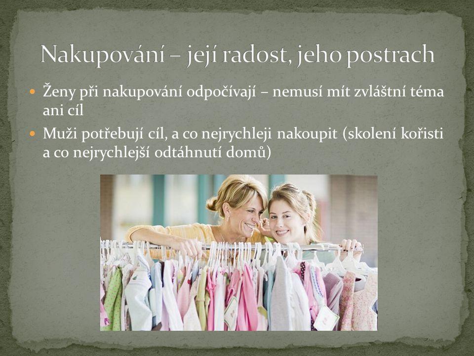 Nakupování – její radost, jeho postrach