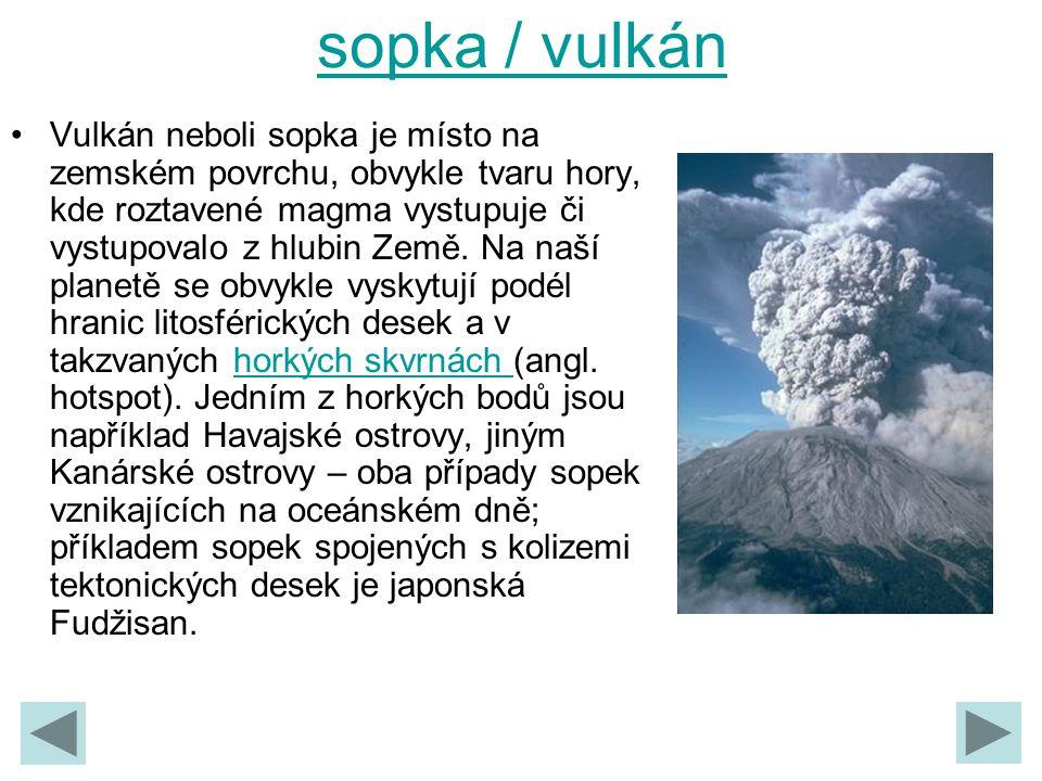 sopka / vulkán