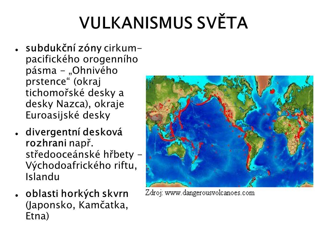 VULKANISMUS SVĚTA