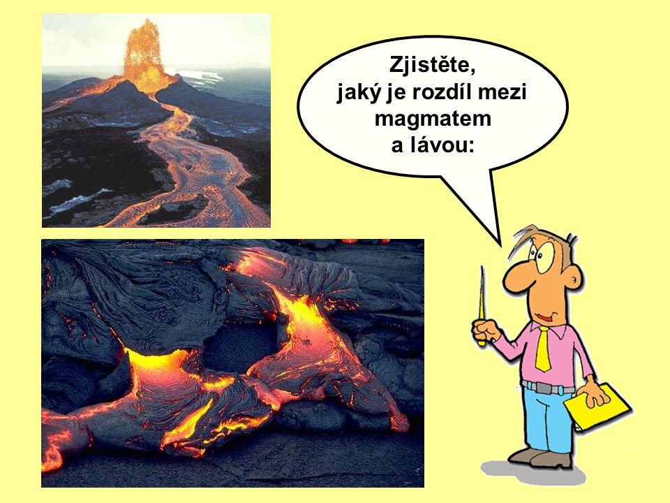 jaký je rozdíl mezi magmatem