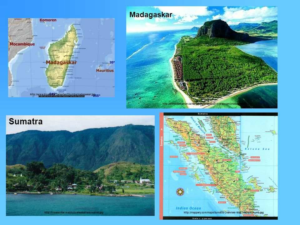 Madagaskar http://www.bluewater.de/karten/thumbs/madagaskar.jpg. http://www.best4man.cz/repository/images/2011/cestovani/madagaskar2.jpg.