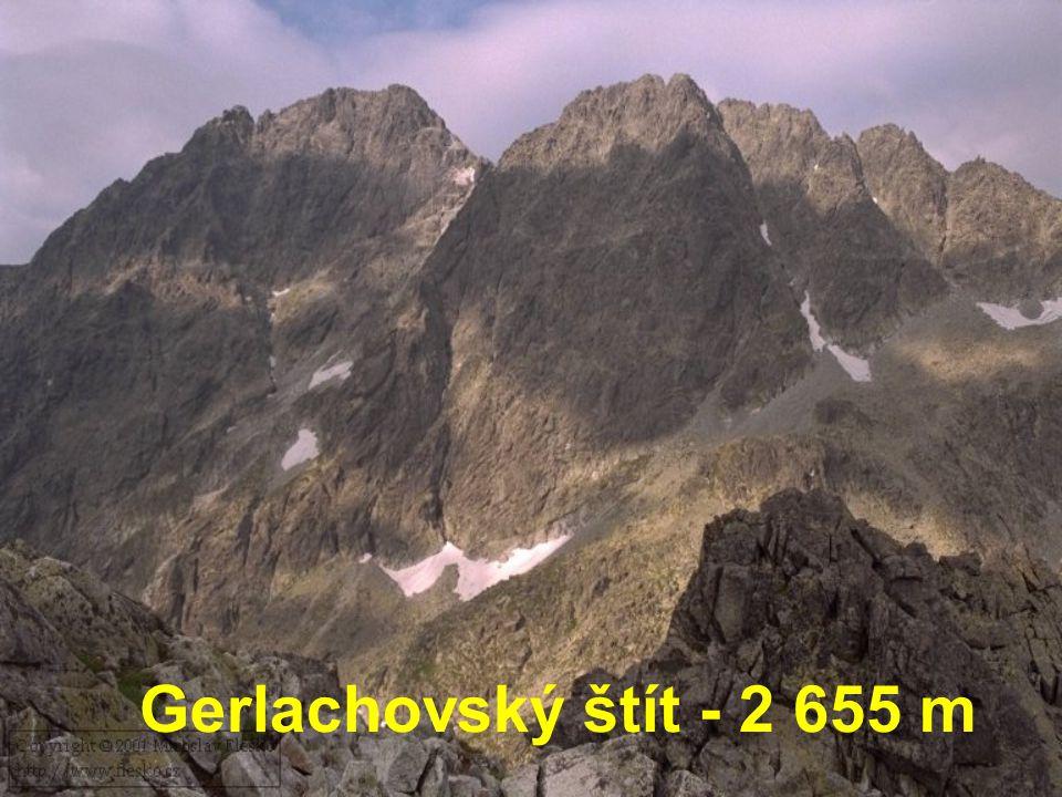 Gerlachovský štít - 2 655 m