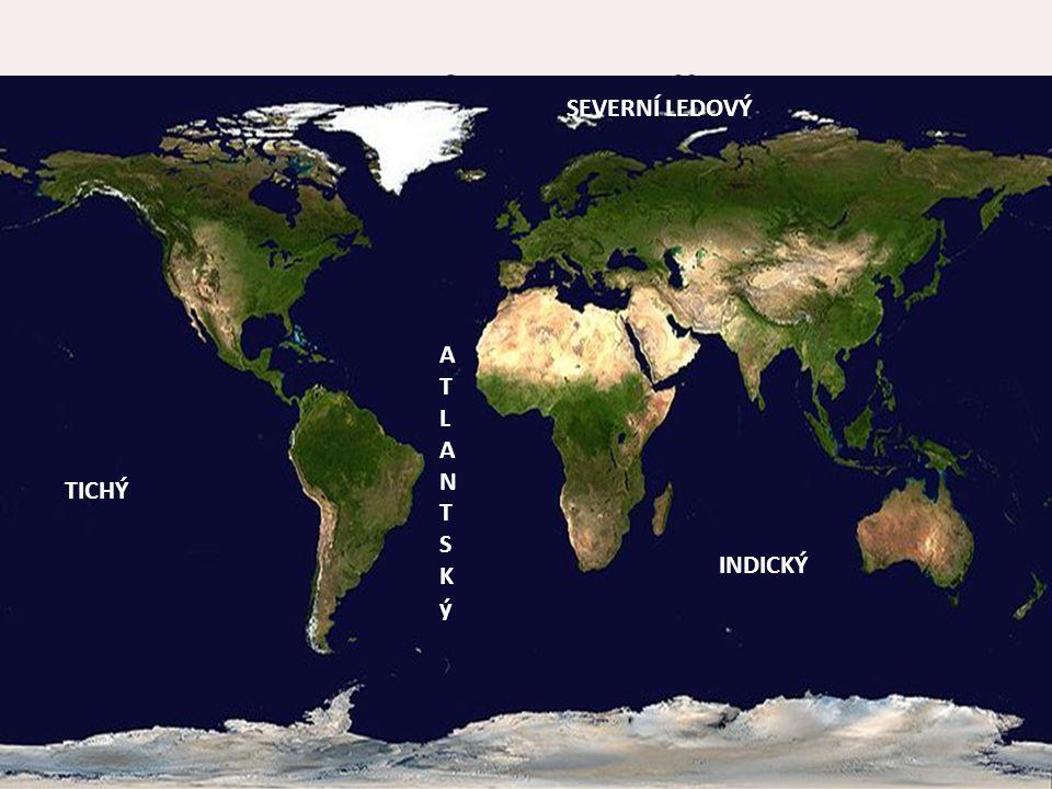 Oceány a moře Světový oceán dělíme na čtyři celky.