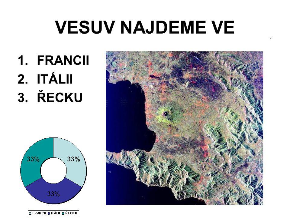 VESUV NAJDEME VE FRANCII ITÁLII ŘECKU