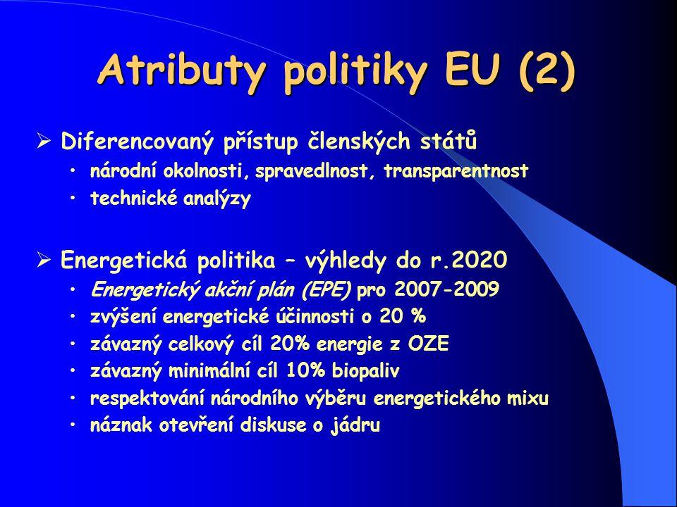 Atributy politiky EU (2)