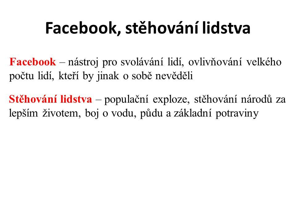 Facebook, stěhování lidstva