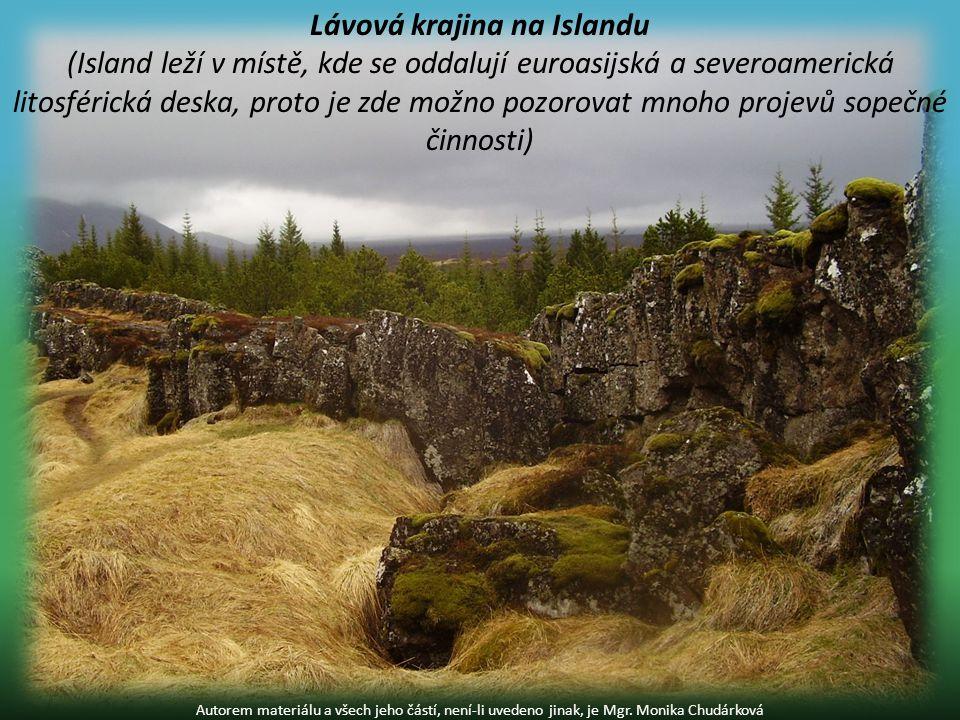 Lávová krajina na Islandu