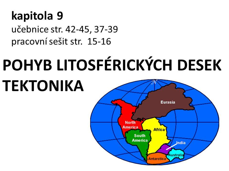 POHYB LITOSFÉRICKÝCH DESEK TEKTONIKA
