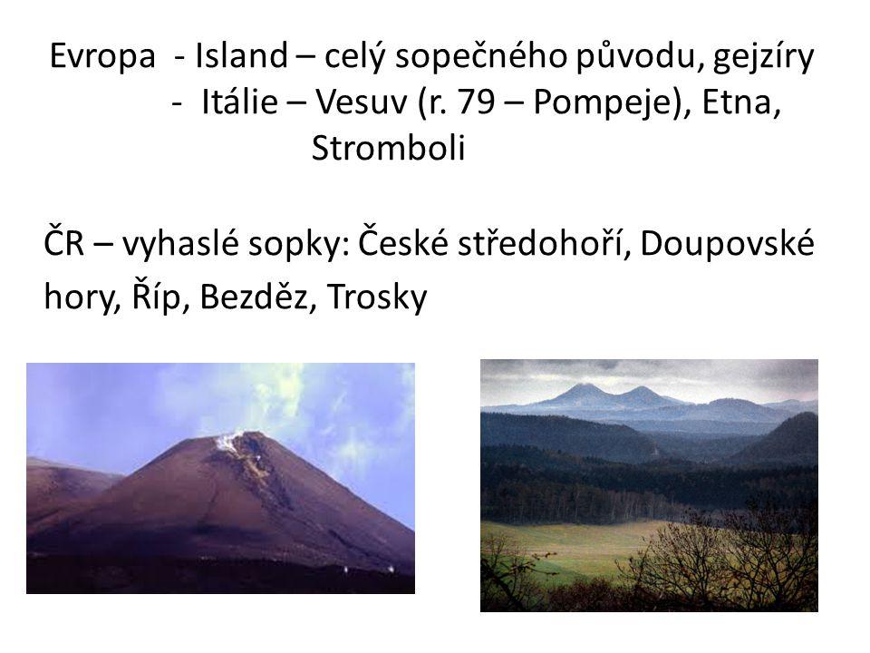 Evropa - Island – celý sopečného původu, gejzíry