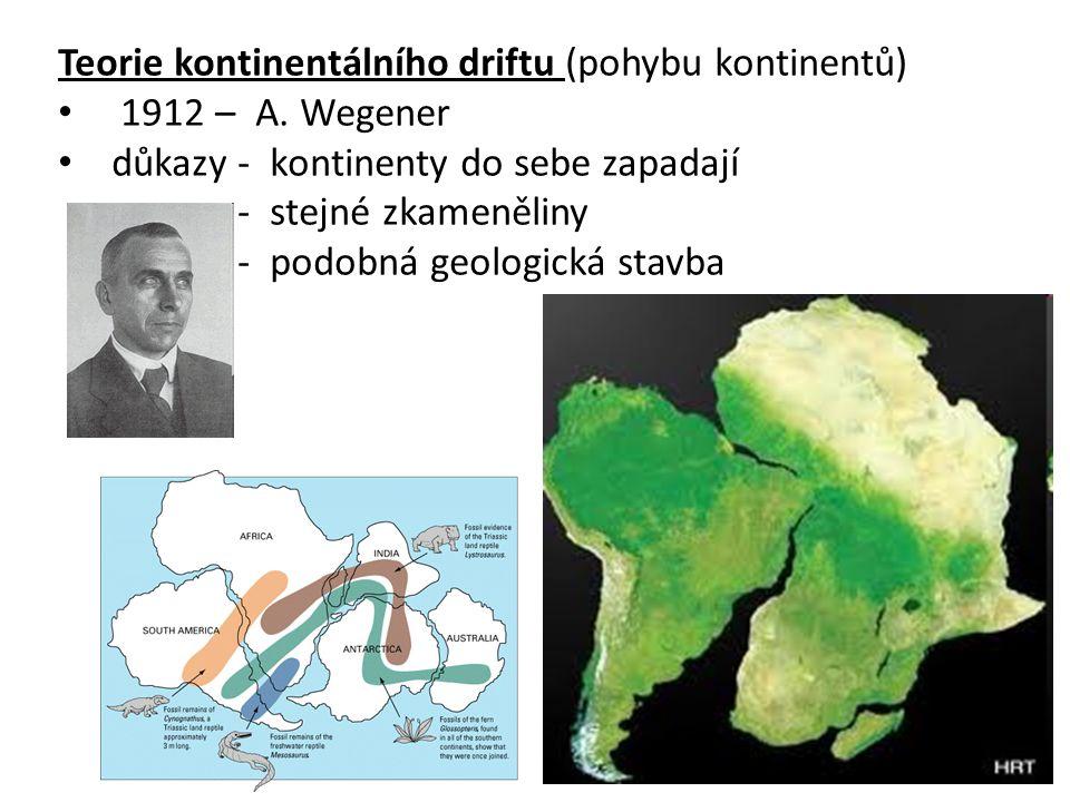 Teorie kontinentálního driftu (pohybu kontinentů)