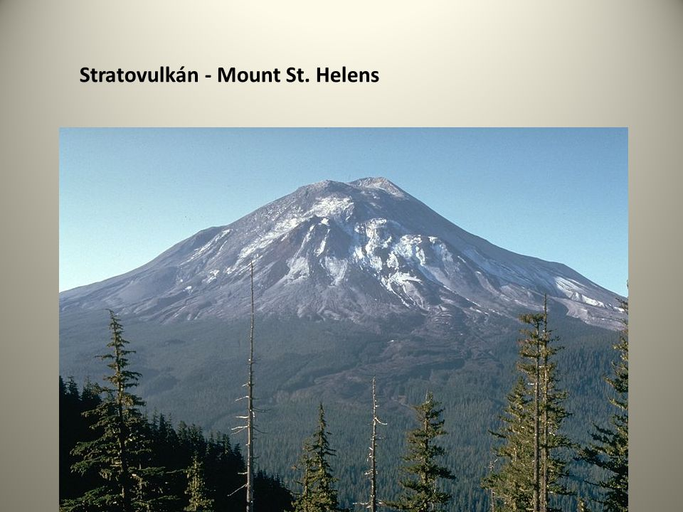Stratovulkán - Mount St. Helens