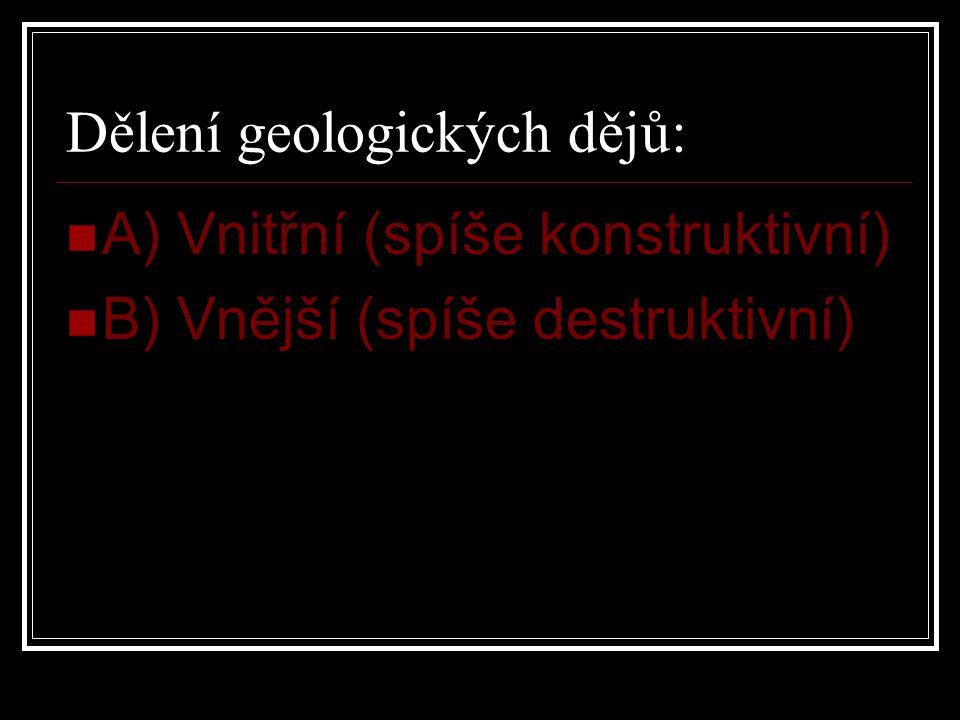 Dělení geologických dějů: