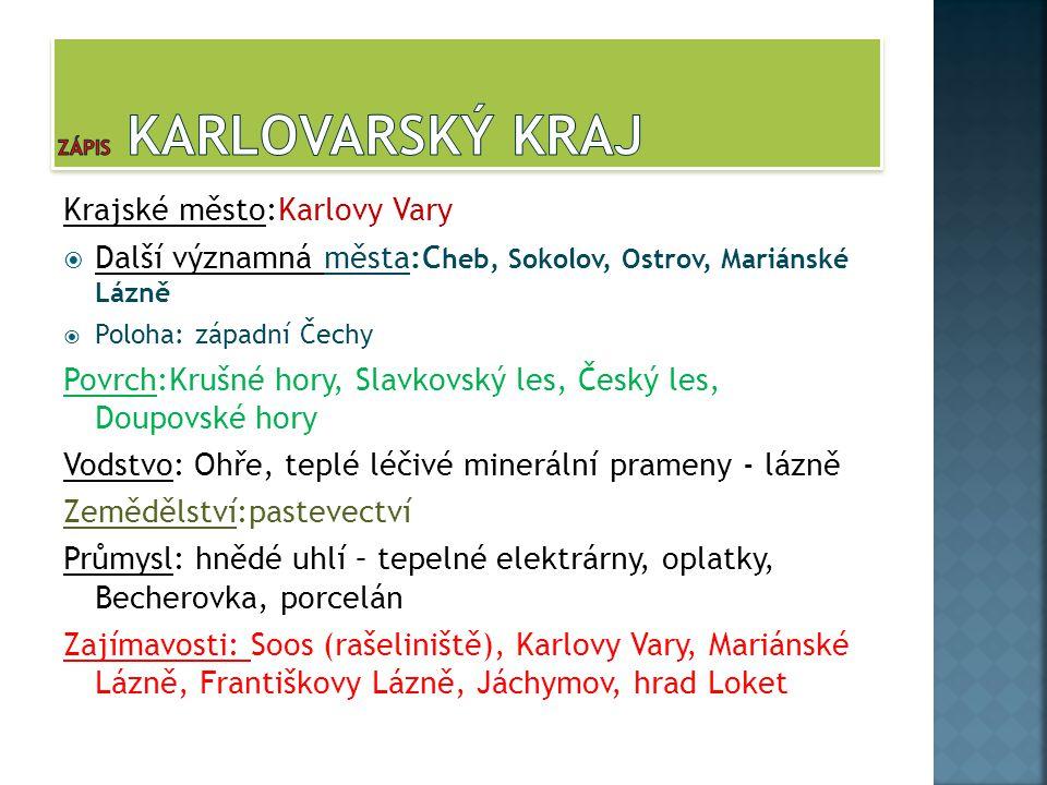 Zápis Karlovarský kraj