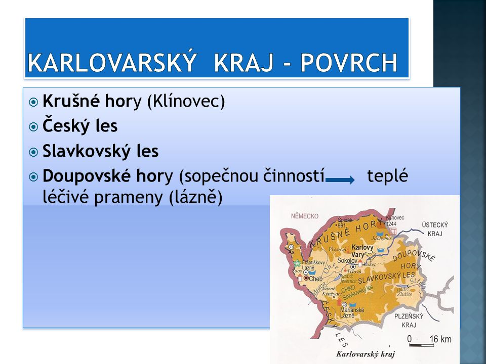 Karlovarský kraj - povrch