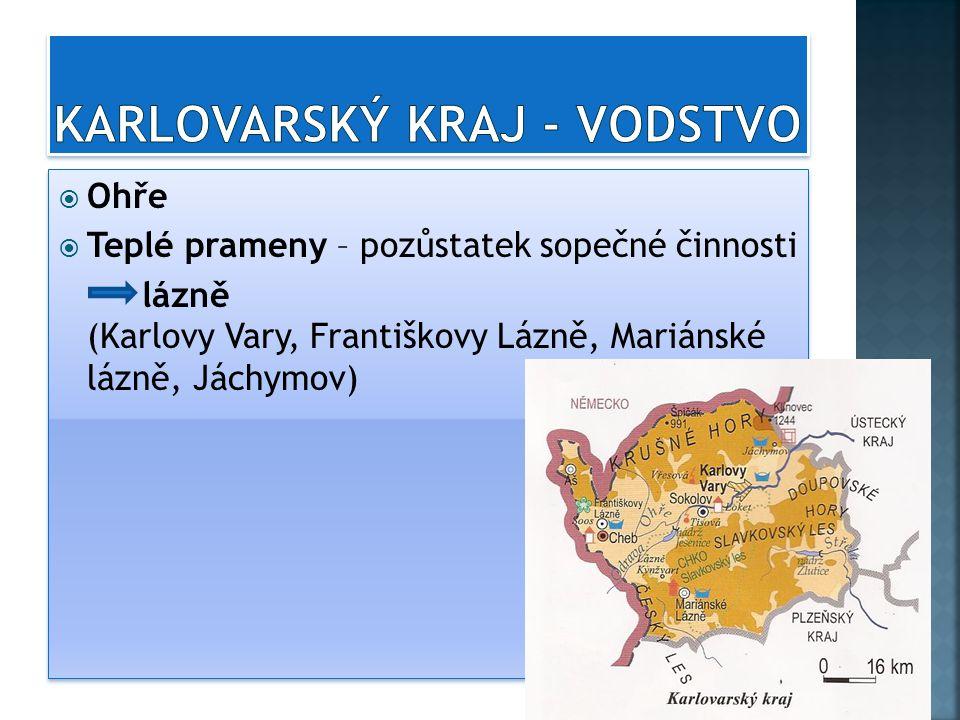 Karlovarský kraj - vodstvo