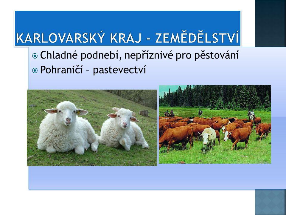 Karlovarský kraj - zemědělství