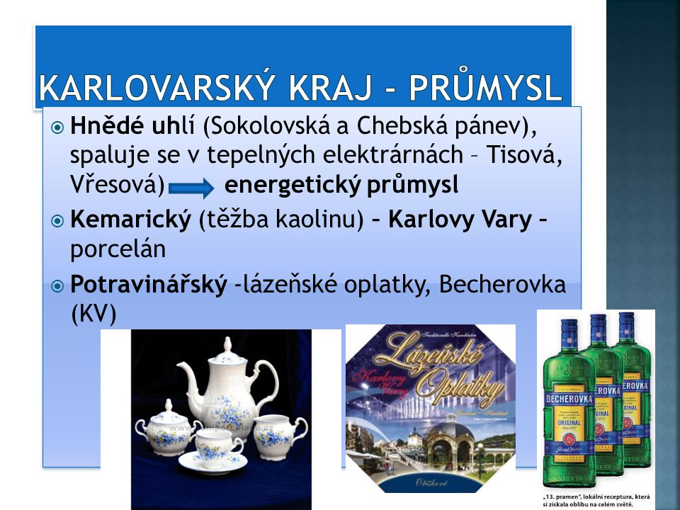 KARLOVARSKý kraj - průmysl