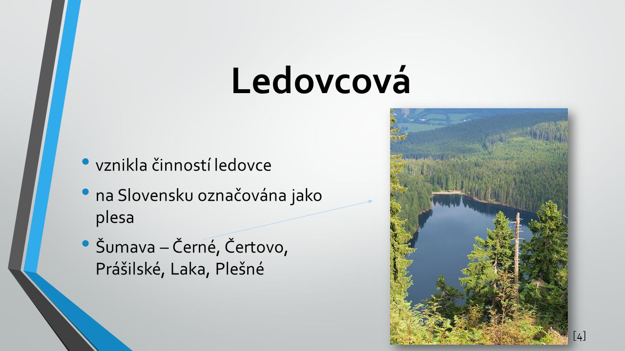Ledovcová vznikla činností ledovce na Slovensku označována jako plesa