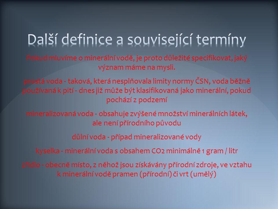 Další definice a související termíny