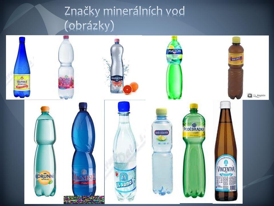 Značky minerálních vod (obrázky)