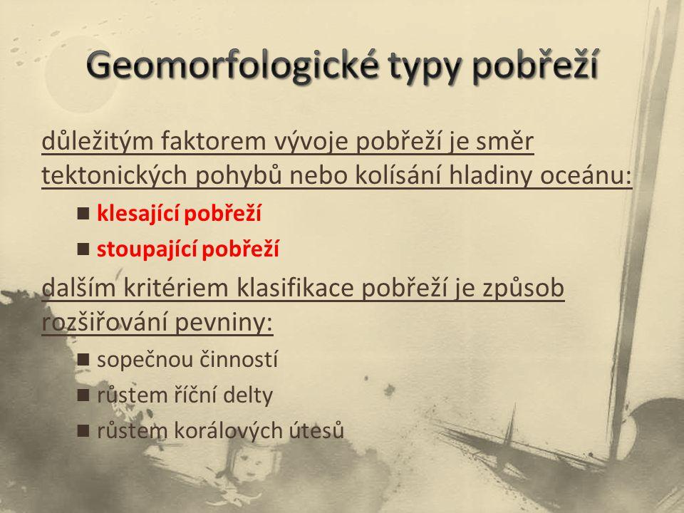 Geomorfologické typy pobřeží