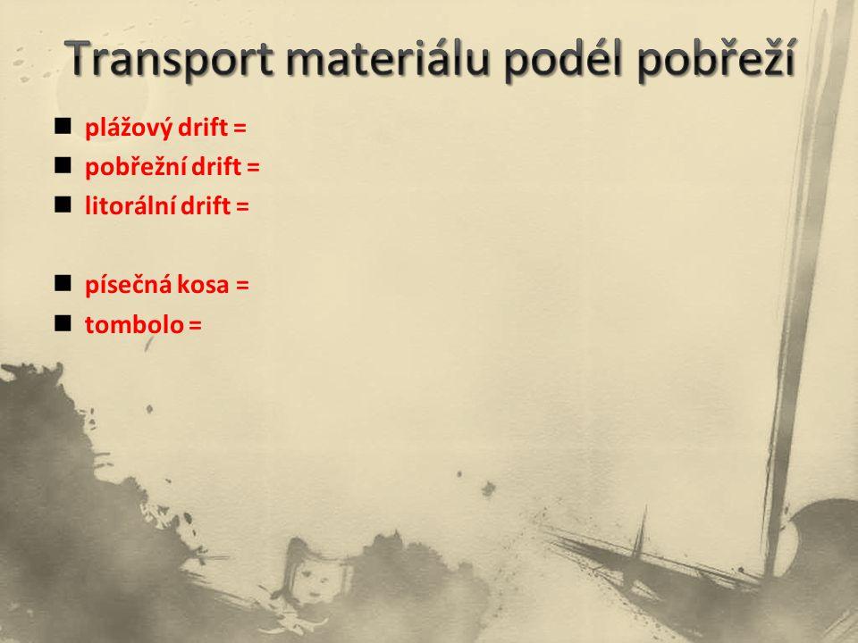 Transport materiálu podél pobřeží