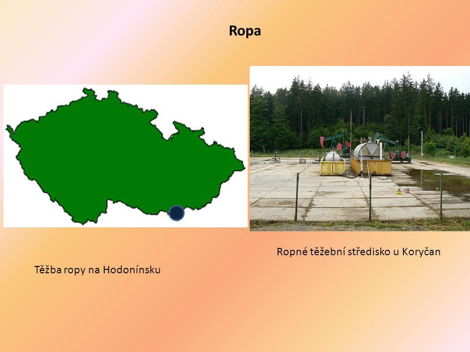 Ropa Ropné těžební středisko u Koryčan Těžba ropy na Hodonínsku