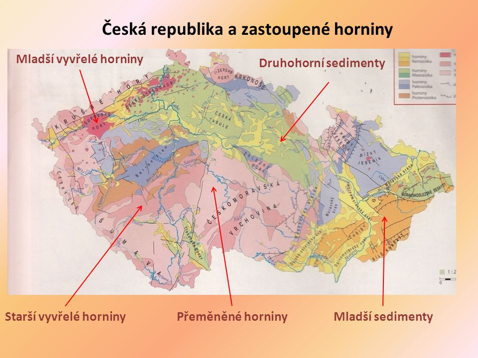 Česká republika a zastoupené horniny