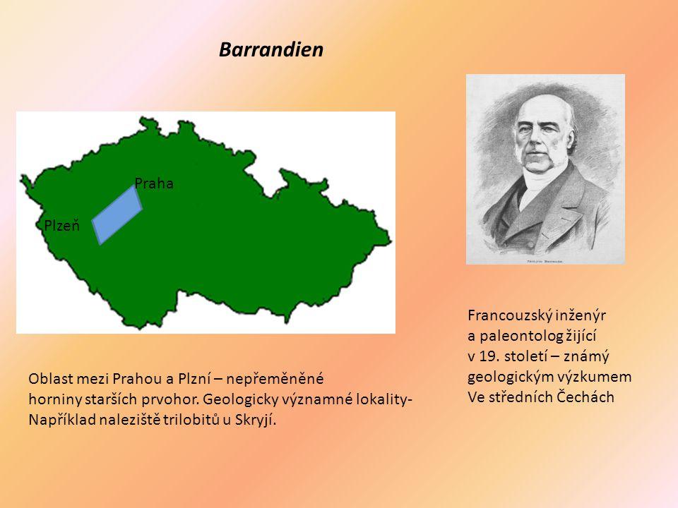 Barrandien Praha Plzeň Francouzský inženýr a paleontolog žijící