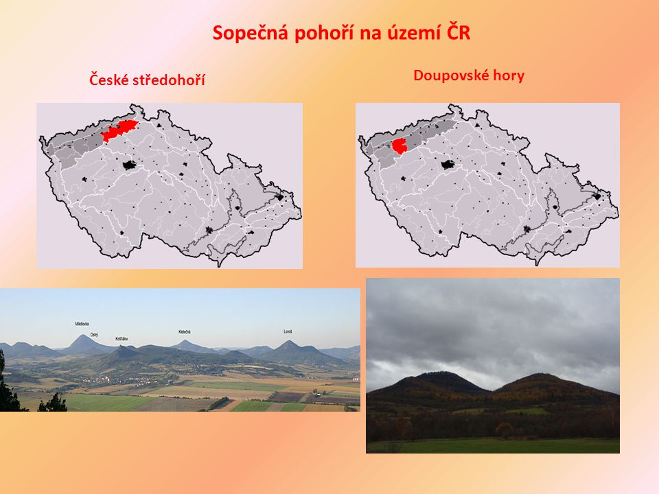 Sopečná pohoří na území ČR