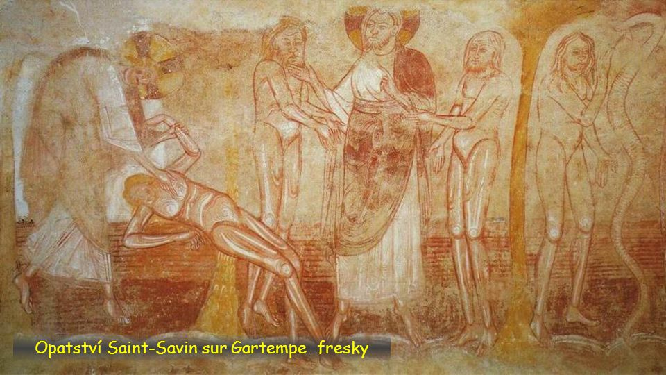 Opatství Saint-Savin sur Gartempe fresky