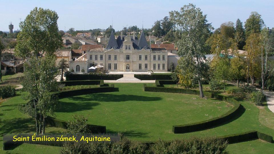 Saint Émilion zámek, Aquitaine