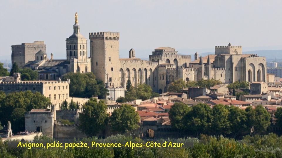 Avignon, palác papeže, Provence-Alpes-Côte d'Azur