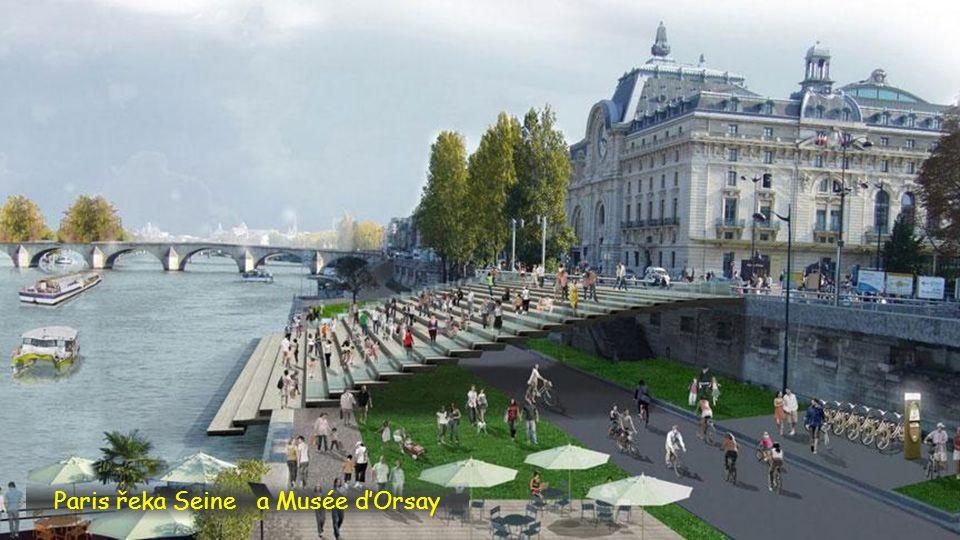 Paris řeka Seine a Musée d'Orsay