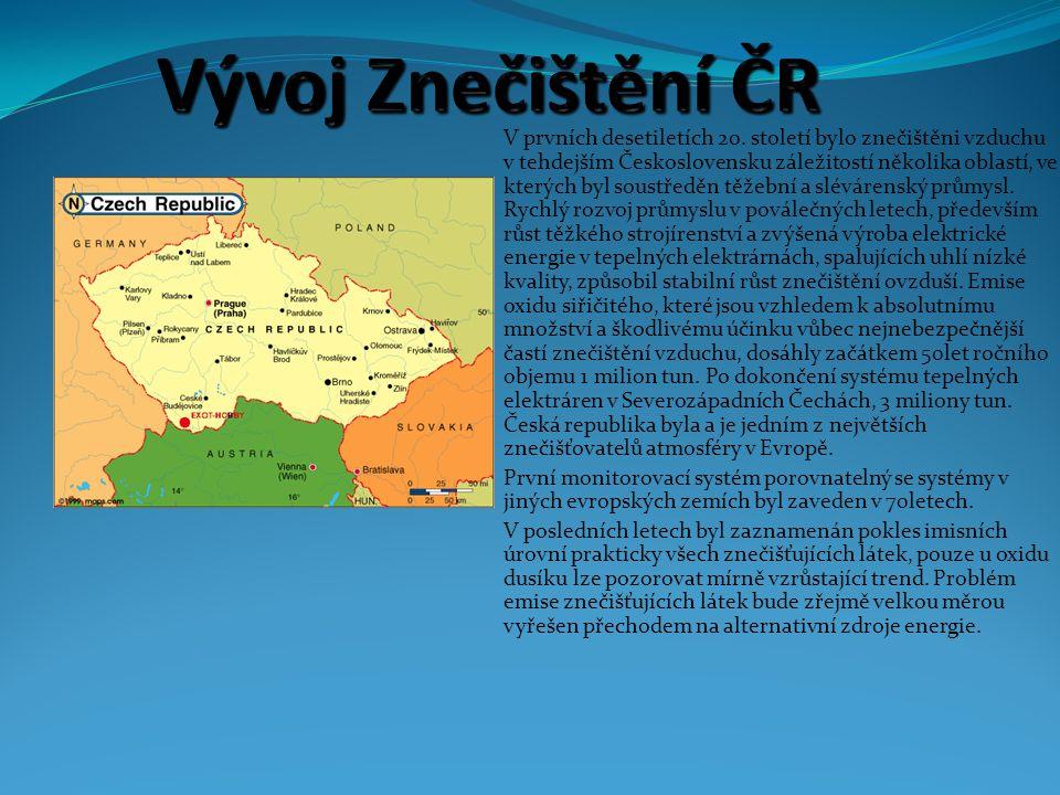 Vývoj Znečištění ČR