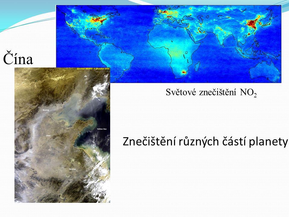 Znečištění různých částí planety