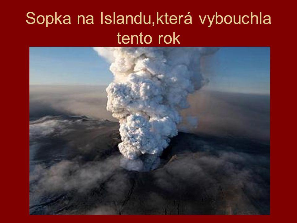 Sopka na Islandu,která vybouchla tento rok